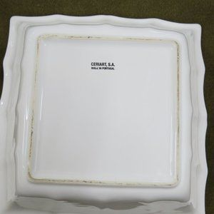 "Ceriart Accents - Ceriart Large 11-1/2"" Square White Serving Bowl"